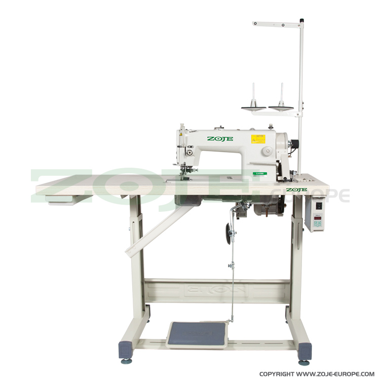 Lockstitch machine with trimmer, for light and medium materials - complete machine