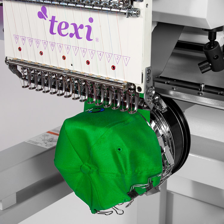 Industrial, one-head, fifteen-needle embroidery machine