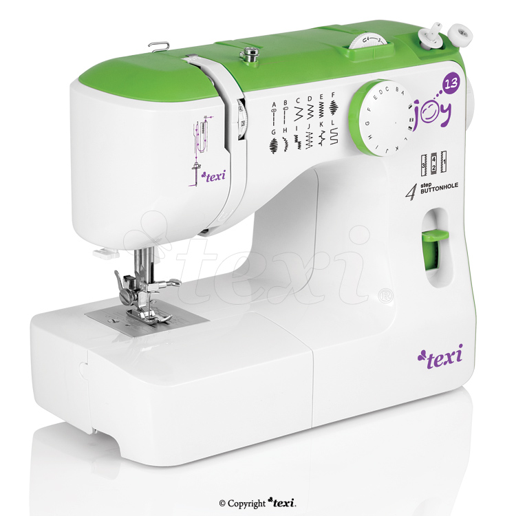 TEXI JOY 13 GREEN - Multifunctional mechanical sewing machine, 13 stitches