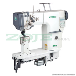 Automatic 2-needle post-bed lockstitch machine with bottom and upper roller feed, with AC Servo motor - machine head - ZOJE ZJ9620SA-D3-M-N1.8-3