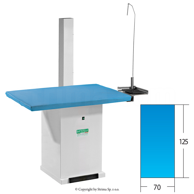 Rectangular ironing table, 125 x 70 cm