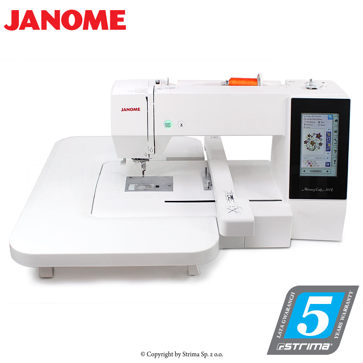 JANOME MEMORY CRAFT 500E JR SET - Computerized embroidery machine - set with embroidery design software JANOME DIGITIZER JR