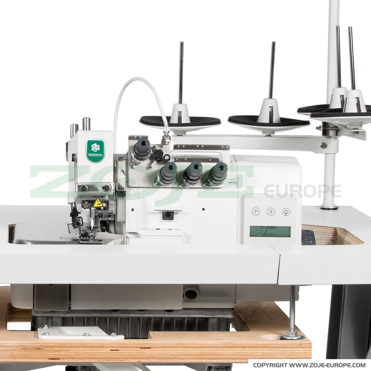 ZOJE ZJ893-4-181 - 4-thread overlock machine (backlatching) all in one Mechatronic with built-in AC Servo motor and control box, with needles positioning - machine head