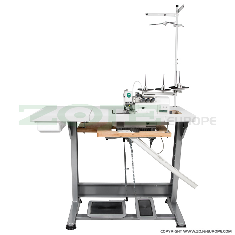 4-thread mechatronic overlock machine (backlatching) with needles positioning - complete machine