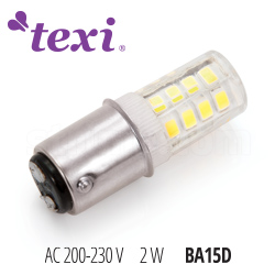 LED lamp for household sewing machines - 230 V, 2 W - TEXI LED BA15D