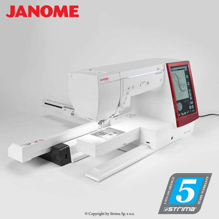 JANOME MEMORY CRAFT 14000 HORIZON MBXSET - Computerized sewing and embroidering machine - promotional set with JANOME DIGITIZER MBX software