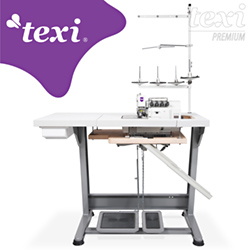 5-thread, mechatronic overlock machine with needles positioning - complete machine - TEXI CINQUE 35 T PREMIUM