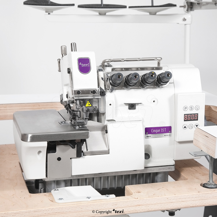 5-thread, mechatronic overlock machine with needles positioning - complete machine