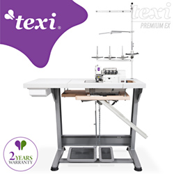 5-thread, mechatronic overlock machine with needles positioning - complete machine - 2 years warranty - TEXI CINQUE 35 T PREMIUM EX