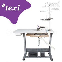 4-thread, mechatronic overlock machine with needles positioning - complete sewing machine - TEXI QUATTRO 24 T PREMIUM