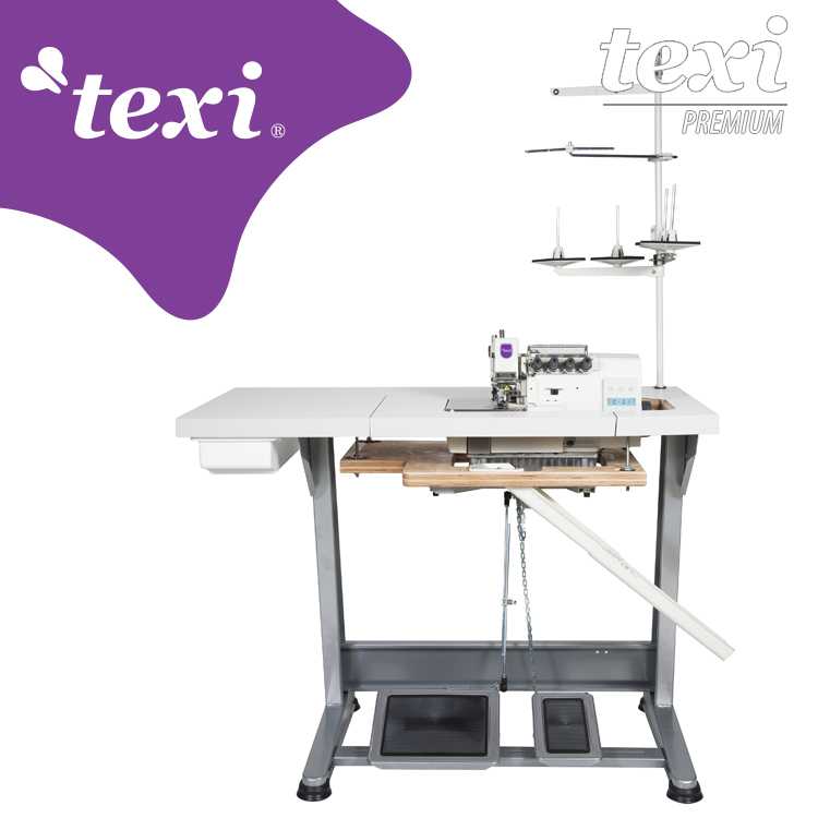 TEXI QUATTRO 24 T PREMIUM - 4-thread, mechatronic overlock machine with needles positioning - complete sewing machine