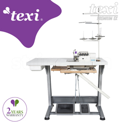4-thread, mechatronic overlock machine with needles positioning - complete sewing machine