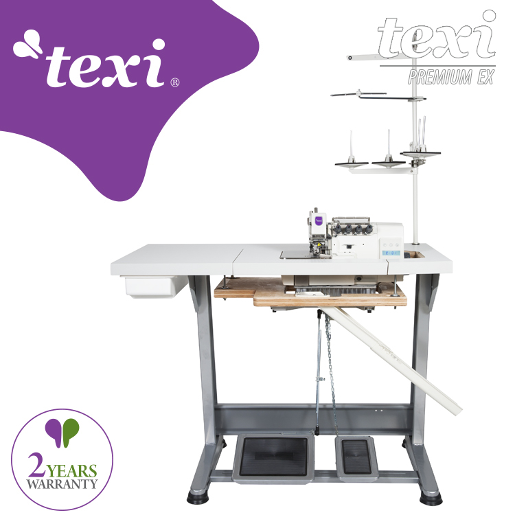 TEXI QUATTRO 24 T PREMIUM EX - 4-thread, mechatronic overlock machine with needles positioning - complete sewing machine - 2 years warranty