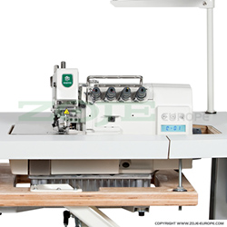 4-thread, mechatronic overlock machine with needles positioning - machine head