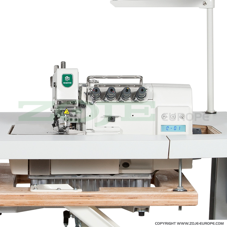 ZOJE ZJ893-4-13H - 4-thread, mechatronic overlock machine with needles positioning - machine head