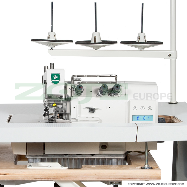 ZOJE ZJ893-3-17 - 3-thread, mechatronic overlock machine with needles positioning - machine head