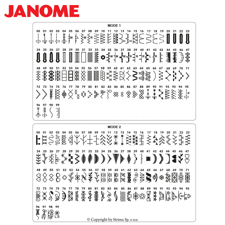 sewing machine cover pattern janome