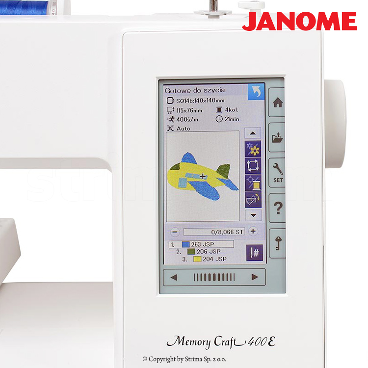 Computerized embroidery machine - set with embroidery design software JANOME DIGITIZER JR - JANOME MEMORY CRAFT 400E JR SET