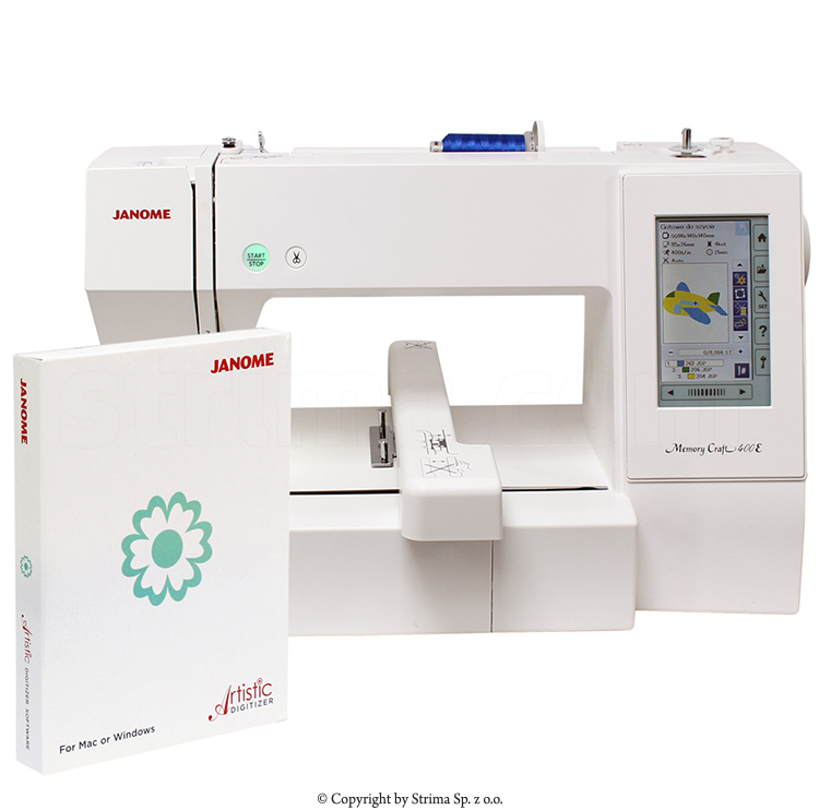 embroidery and sewing machine with usb port