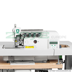 4-thread automatic overlock (safety stitch) machine, light and medium materials, direct drive needle bar, built-in Servo motor and control box - machine head