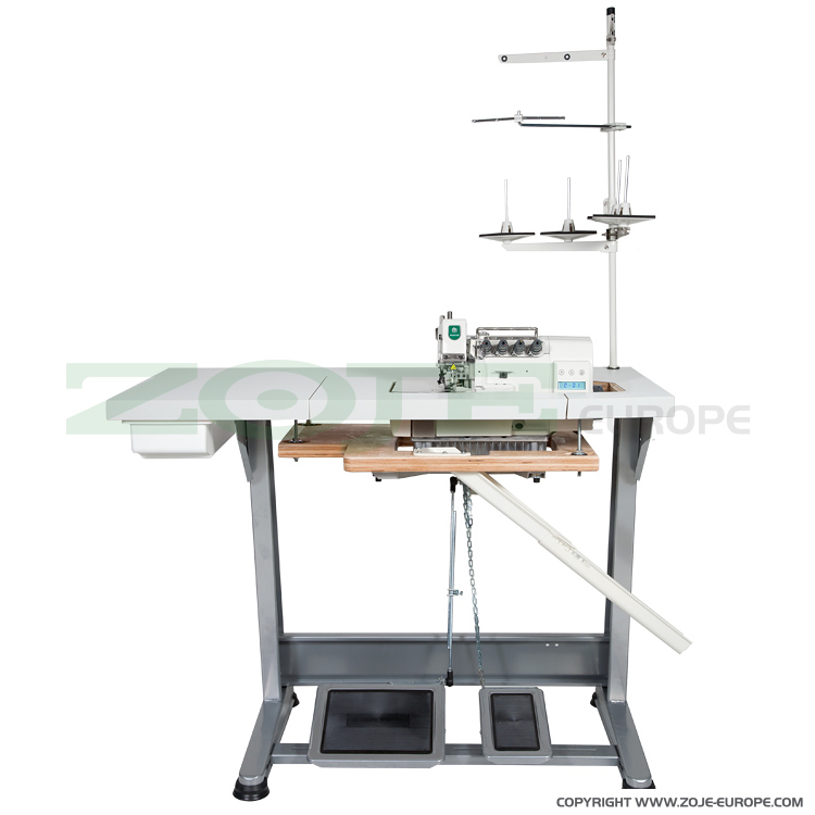 4-thread, mechatronic overlock machine with needles positioning - complete machine