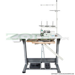 3-thread, mechatronic overlock machine with needles positioning - complete machine