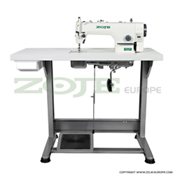 Lockstitch machine for light and medium materials, with built-in AC Servo motor and control box, with needle positioning - complete sewing machine