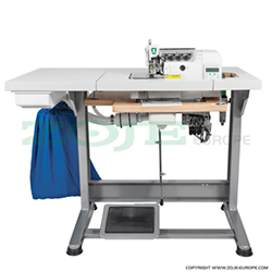 4-thread automatic overlock (safety stitch) machine, light and medium materials, direct drive needle bar, built-in Servo motor and control box - complete