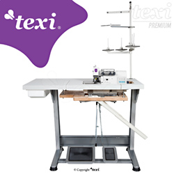 3-threads mechatronic overlock machine with needles positioning - complete sewing machine - TEXI TRE 04 T PREMIUM