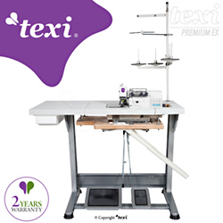 3-threads mechatronic overlock machine with needles positioning - complete sewing machine with 2 years warranty - TEXI TRE 04 T PREMIUM EX