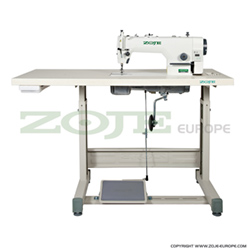 Lockstitch machine for light and medium materials, with built-in AC Servo motor and control box, with needle positioning - complete sewing machine - ZOJE ZJ9513G/02 Z SET