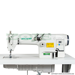 2-needle chainstitch machine with built-in control box, AC Servo motor and needle positioning - machine head