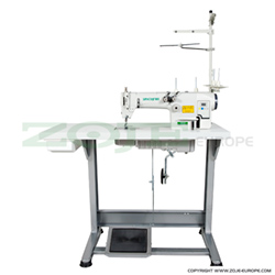 2-needle chainstitch machine with built-in control box, AC Servo motor and needle positioning - SET