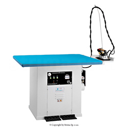 Steaming table 180 x 90 cm for knitted fabric with steam generator 18kW - BATTISTELLA EROS MAXI VAP/S SG 180x90
