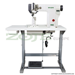 Post-bed, mechatronic lockstitch machine with bottom, needle and upper roller feed, with built in motor and control box - complete - ZOJE ZJ9610-BD-M-3-01 SET