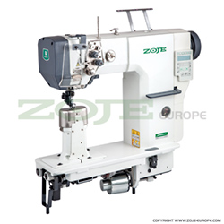 Automatic 2-needle post-bed lockstitch machine with bottom and upper roller feed, with AC Servo motor - complete sewing machine - ZOJE ZJ9620SA-D3-H-N1.8-3 SET