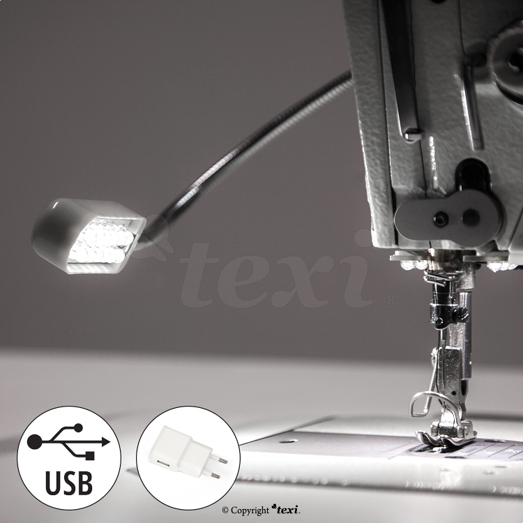 LED lamp for industrial sewing machine - 12 LED, 5 V, 0,6 W - TEXI LED USB