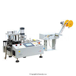 Automatic, multifunction cold knife cutting machine (right angle) with automatic tape feeding with hole punching device