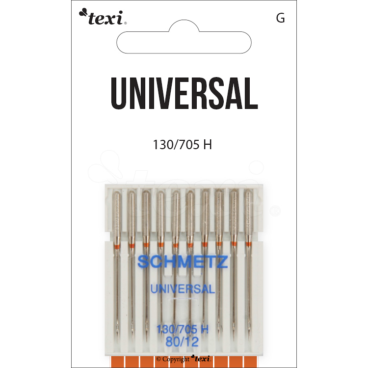 TEXI universal needles for household machines, size 80, 10pcs