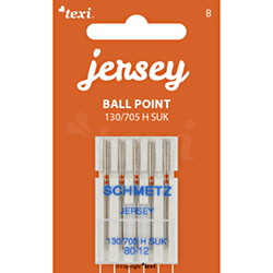 Ball point needles (medium ball) for household machines, 5 pcs, size 80
