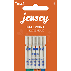 Ball point needles (medium ball) for household machines, 5 pcs, size 70x2, 80x2, 90x1