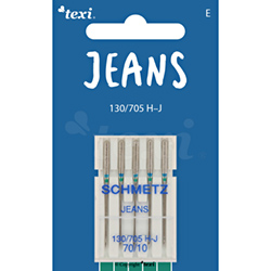Jeans needles for household machines, 5 pcs, size 70