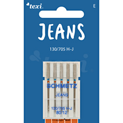 Jeans needles for household machines, 5 pcs, size 80
