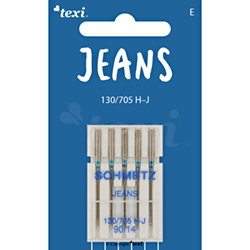 Jeans needles for household machines, 5 pcs, size 90