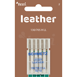 Leather needles for household machines, 5 pcs, size 70