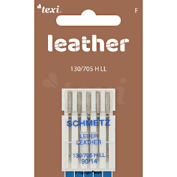 Leather needles for household machines, 5 pcs, size 90