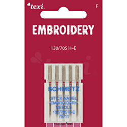 Embroidery needles for household machines, 5 pcs, size 75