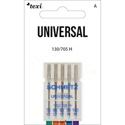 Universal needles for household machines, 5pcs, size 70x1, 80x2, 90x1, 100x1