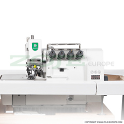 5-thread overlock (safety stitch) machine for light and medium materials, mechatronic overlock machine with needles positioning - machine head - ZOJE ZJ893A-5-38