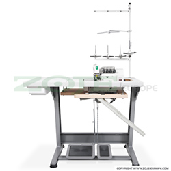 5-thread overlock (safety stitch) machine for light and medium materials, mechatronic overlock machine with needles positioning - complete machine - ZOJE ZJ893A-5-38 SET